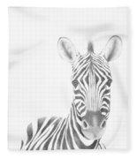 Plains Zebra Fleece Blanket