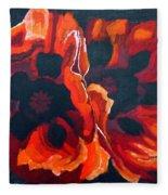 2 Poppies Fleece Blanket