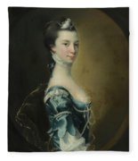 Portrait Of A Young Lady Fleece Blanket