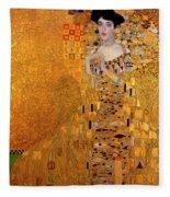 Portrait Of Adele Bloch-bauer Fleece Blanket
