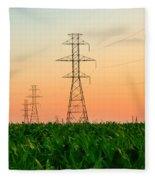 Power Lines Fleece Blanket