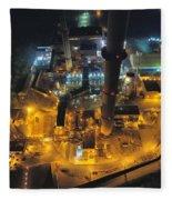 Power Plant Fleece Blanket