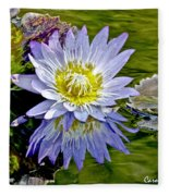 Purple Water Lily Pond Flower Wall Decor Fleece Blanket