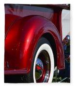 Red Chevy Pickup Fender Fleece Blanket