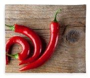 Red Chili Pepper Fleece Blanket
