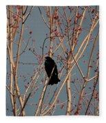Red-winged Blackbird Fleece Blanket