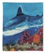2 Reef Sharks Fleece Blanket