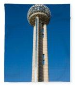 Reunion Tower - Dallas Texas Fleece Blanket