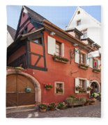 Riquewihr France Fleece Blanket