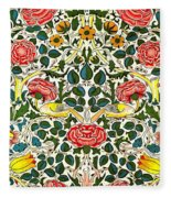 Rose Design Fleece Blanket