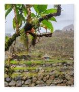 Ruins Of  Machu Picchu Fleece Blanket