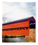 Sachs Bridge - Gettysburg Fleece Blanket