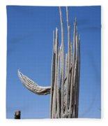 Saguaro Skeleton Fleece Blanket
