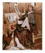 Saint Augustine (354-430) Fleece Blanket