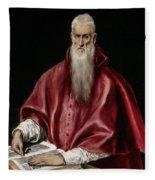 Saint Jerome As Scholar Fleece Blanket