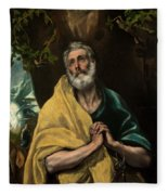 Saint Peter In Tears Fleece Blanket