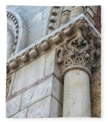 Saint Sernin Basilica Architectural Detail Fleece Blanket