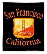 San Francisco California Golden Gate Design Fleece Blanket