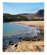 Sand Beach Acadia National Park Fleece Blanket
