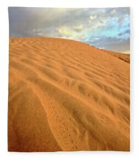 Sand Dune At Great Sand Hills In Scenic Saskatchewan Fleece Blanket