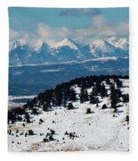Sangre De Cristo Mountains In Winter Fleece Blanket