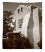 Santa Fe - Adobe Church Fleece Blanket