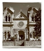 Santa Fe - Basilica Of St. Francis Of Assisi Fleece Blanket