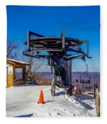 Scenery Around Timberline Ski Resort West Virginia Fleece Blanket