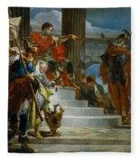 Scipio Africanus Freeing Massiva Fleece Blanket