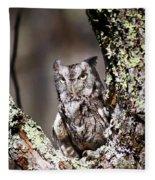 Screech Owl Fleece Blanket