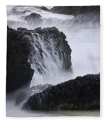 Seal Rock Waves And Rocks 4 Fleece Blanket