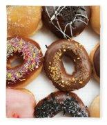 Selection Of Doughnut Fleece Blanket