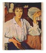 Self-portrait Zinaida Serebryakova Fleece Blanket