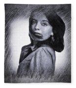 Selfportrait  Fleece Blanket by Colette V Hera Guggenheim