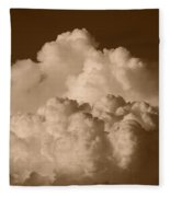 Sepia Clouds Fleece Blanket