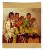 Sharp Joseph Henry Hunting Song Taos Indians Joseph Henry Sharp Fleece Blanket