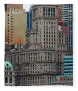 Skyline Of Manhattan - New York City Fleece Blanket