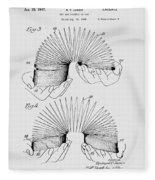 Slinky Patent 1947 Fleece Blanket