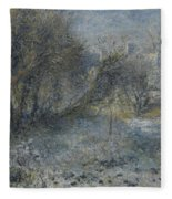 Snow Covered Landscape Fleece Blanket