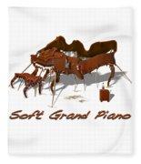Soft Grand Piano  Fleece Blanket
