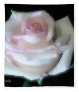 Soft Pink Rose Bud Fleece Blanket