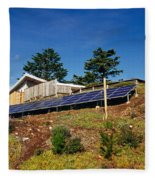 Solar Panels Fleece Blanket