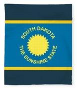 South Dakota Flag Fleece Blanket