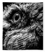 Spectacled Owl  Fleece Blanket