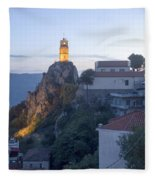 Spectacular Meteora Rock Formations Fleece Blanket