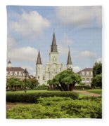 St. Louis Cathedral - Hdr Fleece Blanket