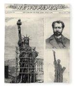 Statue Of Liberty, 1885 Fleece Blanket