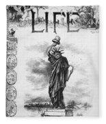 Statue Of Liberty Cartoon Fleece Blanket