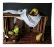 Still-life With Pears Fleece Blanket