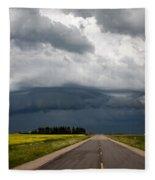 Storm Clouds Prairie Sky Fleece Blanket